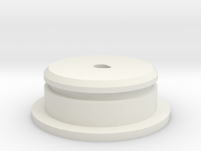 "D-Cell Battery Base 1.135"" in White Natural Versatile Plastic"