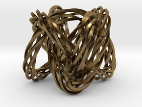 Knot, Knot.  Who's There?  Lissajous knot. in Natural Bronze