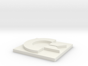 Commodore Logo in White Natural Versatile Plastic