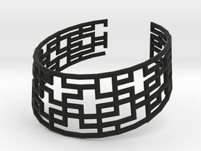 Collar Necklace S02-cylinders steel&plastic in Black Natural Versatile Plastic
