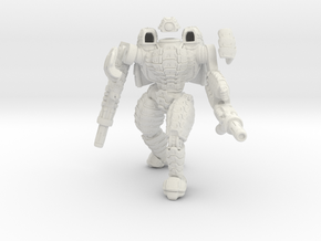 Mech suit with twin weapons. (5) in White Strong & Flexible