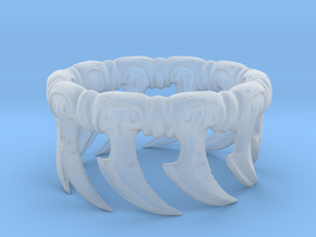 Zerg Ring in Smooth Fine Detail Plastic