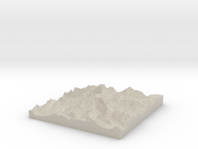 Model of Ives Peak in Natural Sandstone