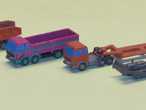 Construction Site Trucks 3 1/285 in Smooth Fine Detail Plastic