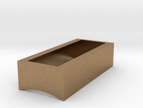 Control Box - BarGraph Surround Box in Natural Brass