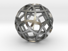 Stripsphere Pendant in Natural Silver