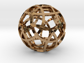 Stripsphere Pendant in Polished Brass