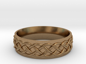 Celtic Knot Wedding Band in Natural Brass: 5 / 49