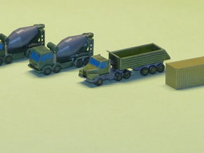 Construction Site Trucks 1 Z-Scale 1/220 in Smooth Fine Detail Plastic