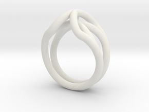 Spider Ring Size 9 in White Natural Versatile Plastic