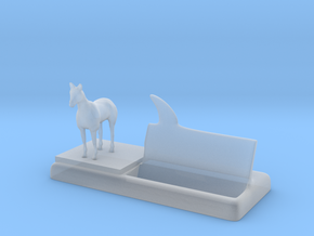 horse business card holder in Smooth Fine Detail Plastic