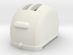 1/6 scale Toaster, 1940's  in White Natural Versatile Plastic