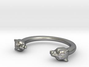 bracelet black panther in Natural Silver