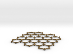 Graphene Lattice in Polished Bronze