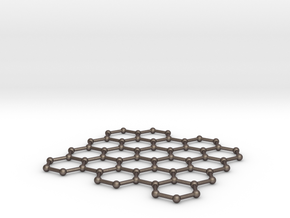 Graphene Lattice in Polished Bronzed Silver Steel