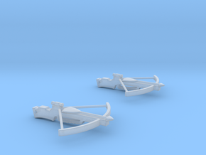 Cross Bow Earrings in Smooth Fine Detail Plastic