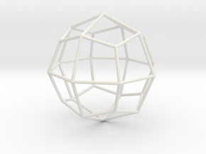 DeltoidalIcositetrahedron 70mm in White Natural Versatile Plastic