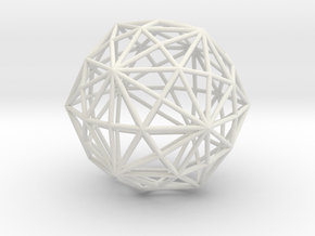 DisdyakisTriacontahedron 70mm in White Strong & Flexible