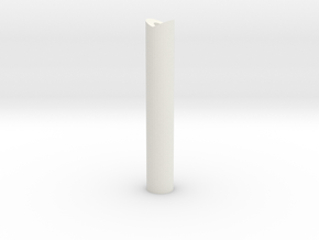 53mm tall felixstowe peg in White Natural Versatile Plastic