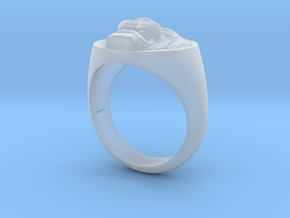 Lion signet ring in Smooth Fine Detail Plastic