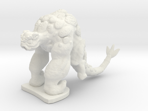 Alien Gorilla in White Natural Versatile Plastic