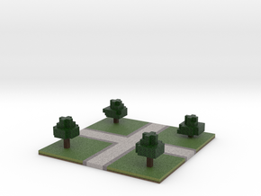 60x60 cross path (trees) (2mm series) in Full Color Sandstone