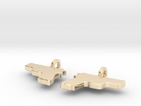 P229 EARRING DANGLES (FIT 14 GAUGE JEWELRY) in 14K Yellow Gold