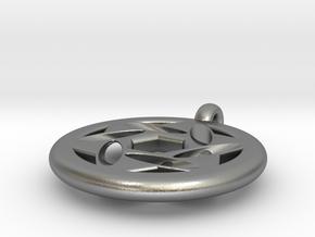 star of david pendant (variation) in Natural Silver