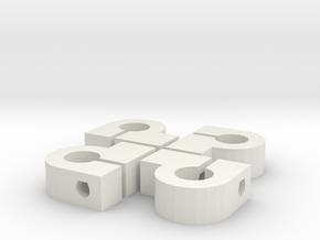 pb Y BarEnd x4 in White Natural Versatile Plastic