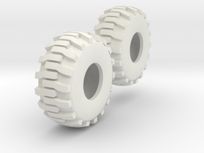 1:64 scale Industrial Tires in White Natural Versatile Plastic