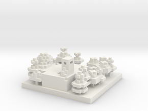 30x30 Refinery (1mm series) in White Natural Versatile Plastic