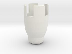 stunt sonic cap in White Natural Versatile Plastic