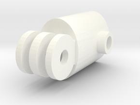 "Gopro Three Lobe To 5/8"" Light Stand Adapter in White Processed Versatile Plastic"