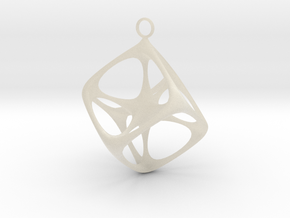 Soft Tesseract Pendant in White Acrylic