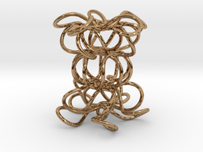 Knot Sculpture in Polished Brass