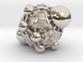 Nucleus D10 in Rhodium Plated Brass