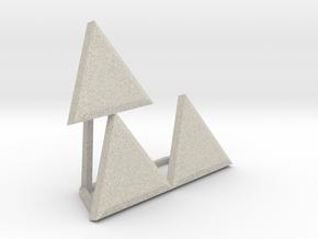 Triforce Meme in Natural Sandstone