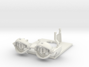 18 - 20mm Eye Gimbal for NewPower XLD-4.5 servos in White Strong & Flexible