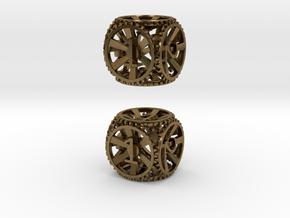 Gear Die - D6 2 Pack in Natural Bronze