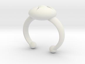 Flower Bud Cuff Bracelet 40 mm #1 in White Natural Versatile Plastic