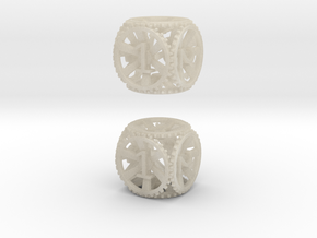 Gear Die - D6 2 Pack in White Acrylic