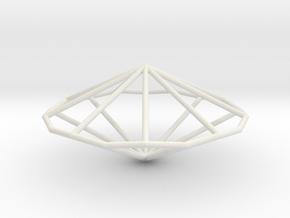 NonagonalTrapezohedron 70mm in White Natural Versatile Plastic