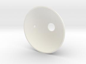 Goldeneye Pinball Satellite Dish - Repro in White Strong & Flexible Polished