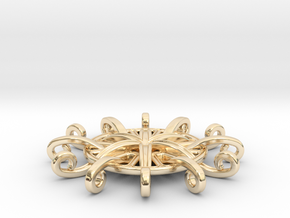 Tentacle Rosette Pendant in 14K Yellow Gold