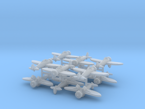 1/300 Boeing P-26A Peashooter (x12) in Smooth Fine Detail Plastic