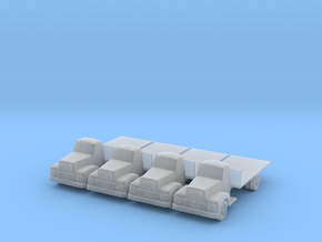 IH R190 Flatbed - Set of 4 - Zscale in Smooth Fine Detail Plastic