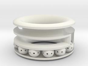 2 tier bracelet  in White Natural Versatile Plastic