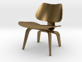 """Herman Miller Eames Molded Plywood Chair 3.1"""" tall in Natural Bronze"""