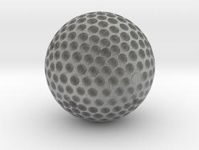 GOLDEN GOLF BALL TROPHY in Metallic Plastic