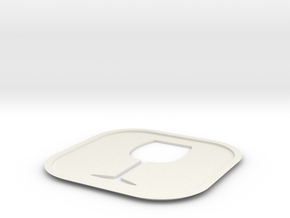 Wine Coaster in White Natural Versatile Plastic